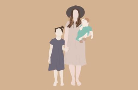 Family portrait 3-4 characters | Custom digital art