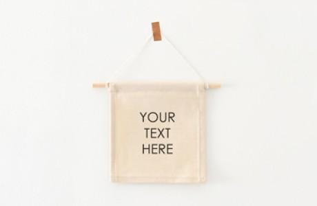 Custom wall flag | Your text