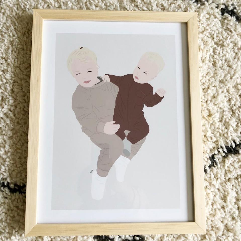 Natural wooden frame